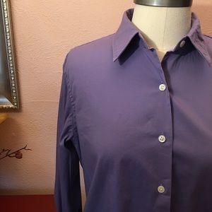Lauren purple button down size medium
